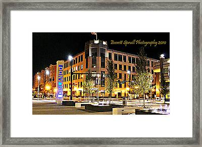 Downtown Orlando At Amway Center Framed Print