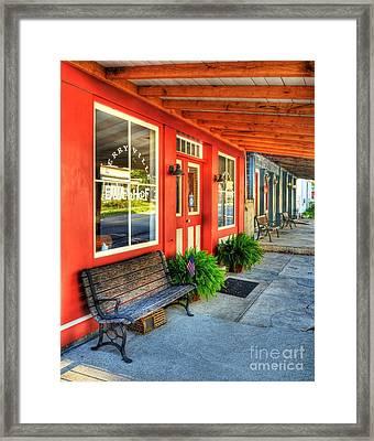 Downtown Perryville Framed Print by Mel Steinhauer