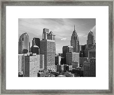 Downtown Philadelphia Framed Print by Rona Black