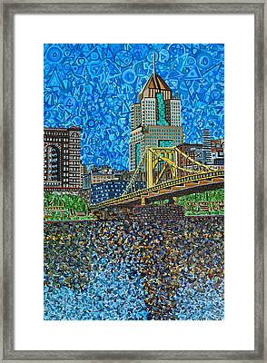 Downtown Pittsburgh - Roberto Clemente Bridge Framed Print by Micah Mullen
