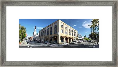 Downtown Pomona Framed Print