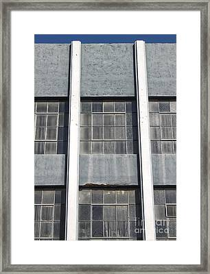 Downtown Pomona Windows Framed Print