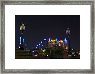 Downtown Providence At Night Framed Print