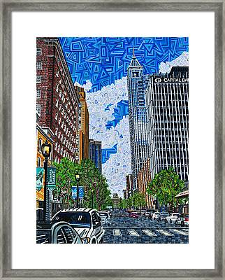 Downtown Raleigh - Fayetteville Street Framed Print by Micah Mullen