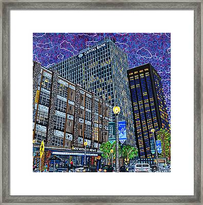 Downtown Raleigh - Hudson Building Framed Print by Micah Mullen