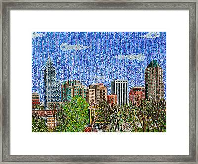 Downtown Raleigh - View From Boylan Street Bridge Framed Print by Micah Mullen