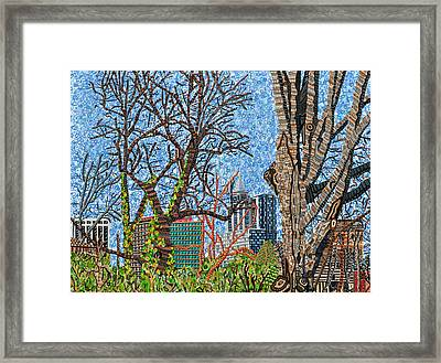Downtown Raleigh - View From Chavis Park Framed Print by Micah Mullen