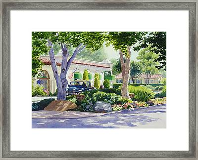 Downtown Rancho Santa Fe Framed Print