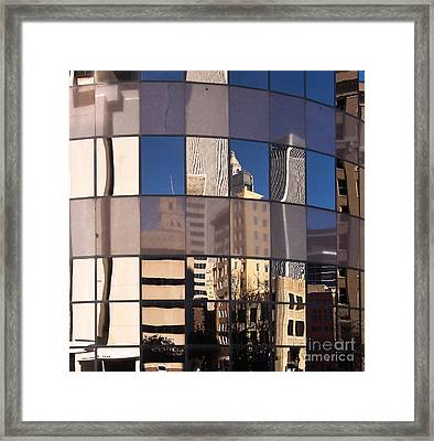 Framed Print featuring the photograph Downtown Reflections by Lawrence Burry