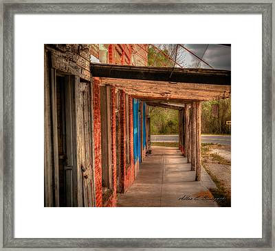 Downtown Richards Texas Framed Print