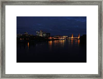 Downtown Sacramento River 2 Framed Print by Philip Tolok
