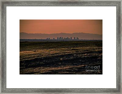Downtown Sacramento Skyline Framed Print by Dan Julien