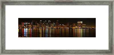 Downtown San Diego At Night From Harbor Drive Framed Print by Nathan Rupert