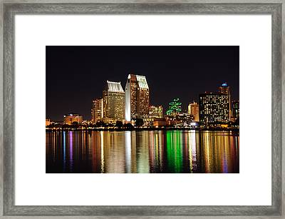 Downtown San Diego Framed Print by Gandz Photography