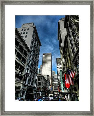 Downtown San Francisco 001 Framed Print by Lance Vaughn
