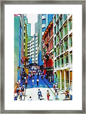 Downtown Sao Paulo At Midday Framed Print by Steve Ohlsen