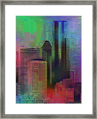 Downtown Seattle Cubed 3 Framed Print