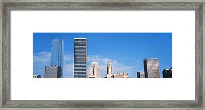 Downtown Skyline, Devon Tower, Oklahoma Framed Print by Panoramic Images