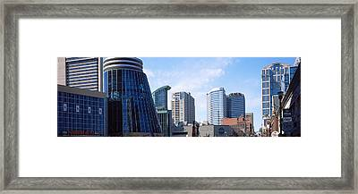 Downtown Skylines Of Nashville Framed Print by Panoramic Images