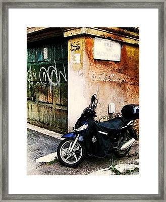 Framed Print featuring the photograph Downtown Sorrento Italy by Polly Peacock