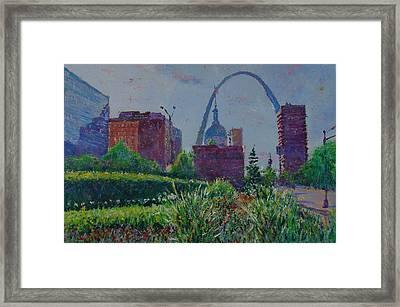 Downtown St. Louis Garden Framed Print by Horacio Prada