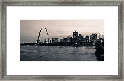 Downtown St. Louis In Twilight Framed Print