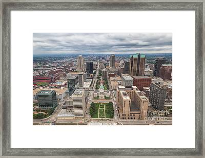 Downtown St Louis Old Courthouse Framed Print