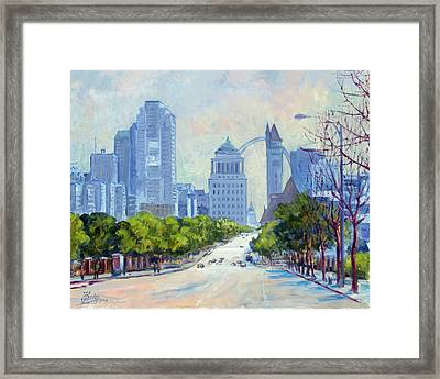 Downtown St.louis From Market Street Framed Print