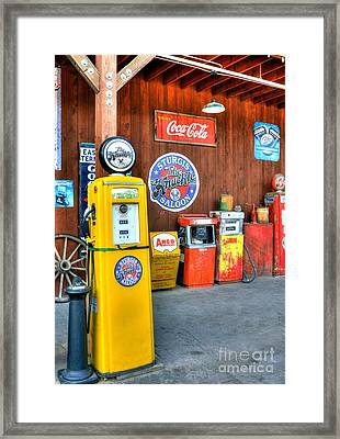 Downtown Sturgis 4 Framed Print by Mel Steinhauer