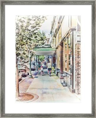 Downtown Sunday Framed Print