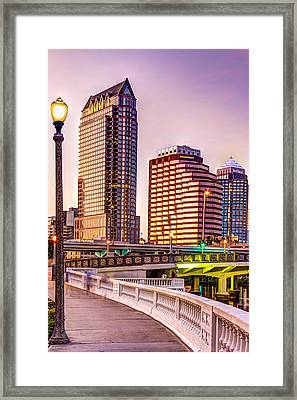 Downtown Tampa At Platt Street Framed Print by Marvin Spates