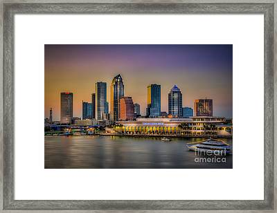 Downtown Tampa Framed Print by Marvin Spates