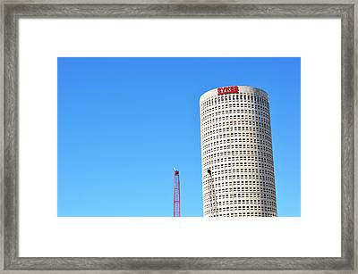 Downtown Tampa Photography - Leaning Tower Of Sykes - Sharon Cummings Framed Print