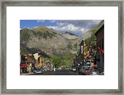 Downtown Telluride Colorado Framed Print by Mike McGlothlen