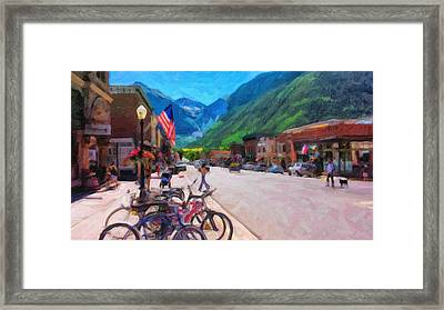 Downtown Telluride Framed Print