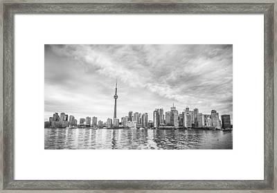 Framed Print featuring the photograph Downtown Toronto Skyline by Anthony Rego