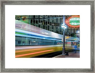Downtown Train Framed Print