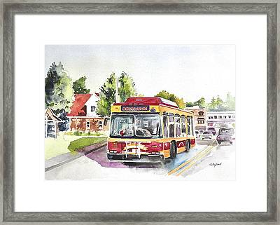 Downtown Trolley Framed Print