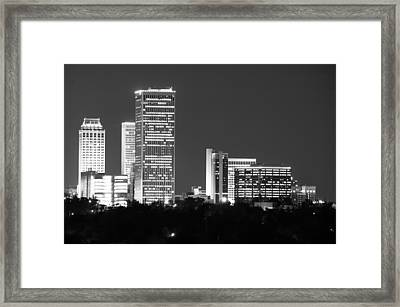 Downtown Tulsa Oklahoma Framed Print by Gregory Ballos