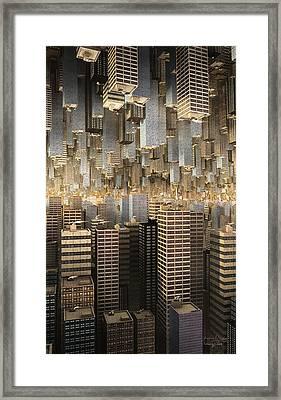 Framed Print featuring the digital art Downtown/uptown by Matt Lindley