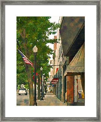Framed Print featuring the photograph Downtown Usa by Denise Beverly