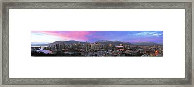 Downtown Vancouver Panorama Framed Print