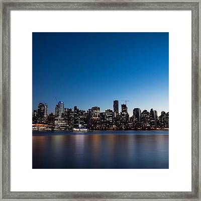 Downtown Vancouver Skyline Framed Print