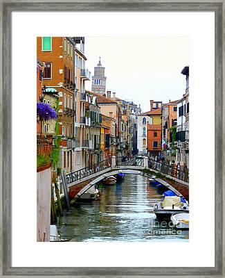Downtown Venice Framed Print