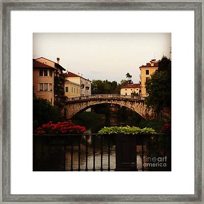 Downtown Vicenza Framed Print