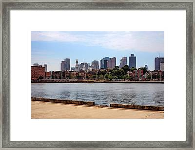 Downtown View In Boston Framed Print
