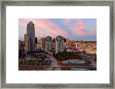 Framed Print featuring the photograph Downtown View San Diego by Heidi Smith