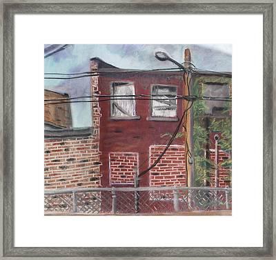 Downtown Warrensburg Framed Print by Billy Granneman