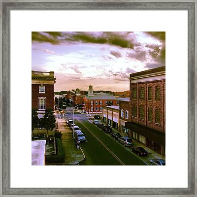 Downtown Washington Nc Framed Print