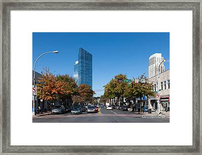 Downtown White Plains New York IIi Framed Print by Clarence Holmes